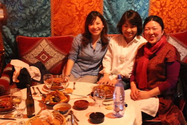 モロッコ、マラケシュでのディナー