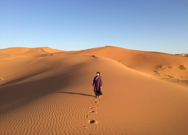 モロッコ、サハラ砂漠
