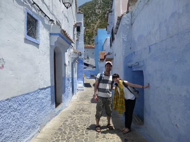 モロッコ、青の街シャウエンにて