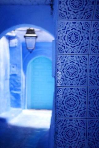 モロッコ、シャウエンの街角