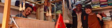 モロッコ、マラケシュのストール屋