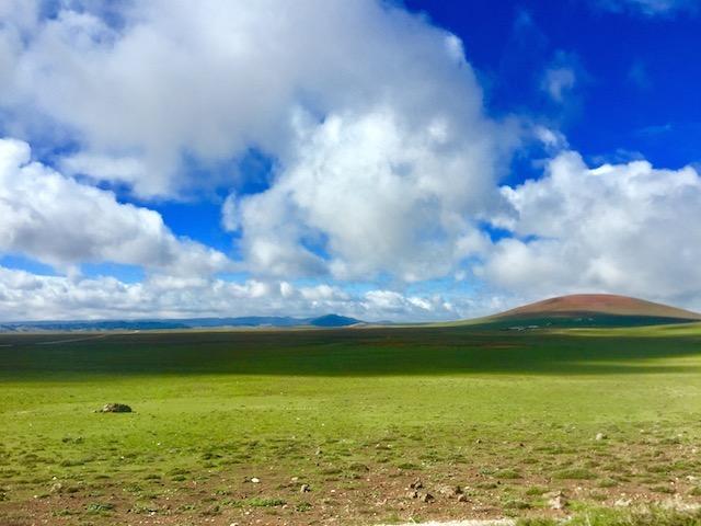 モロッコ、アトラス山脈の風景