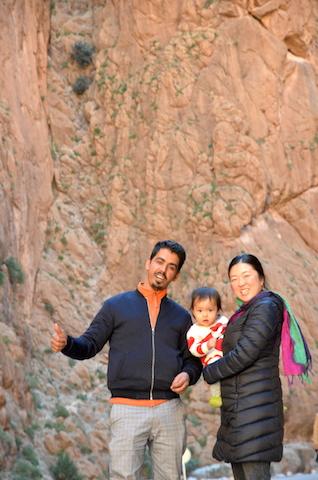 モロッコ、トドラ峡谷