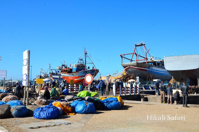 モロッコ、エッサウィラの港