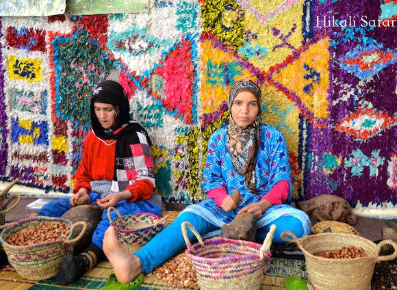 モロッコ、アルガンオイル工房