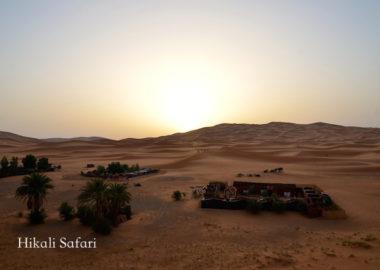 モロッコ、サハラ砂漠のキャンプサイト