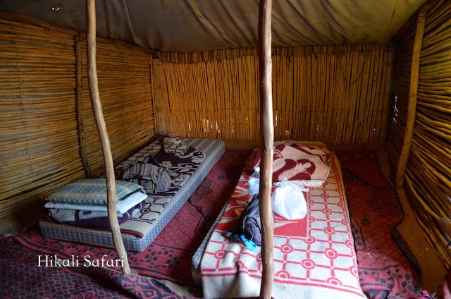 モロッコ、サハラ砂漠のテント内部