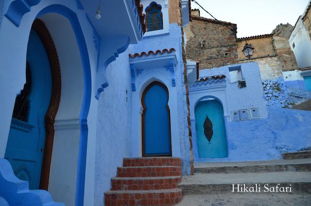 モロッコ、シャウエンの街並