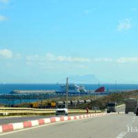 タンジェMED港とジブラルタル海峡