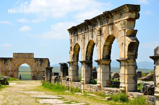 モロッコ、ローマ遺跡ヴォルビリス