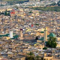 モロッコ、フェズ旧市街のパノラマ
