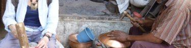モロッコ、フェズの工房にて