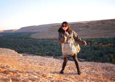 モロッコ、Ziz谷のパノラマ