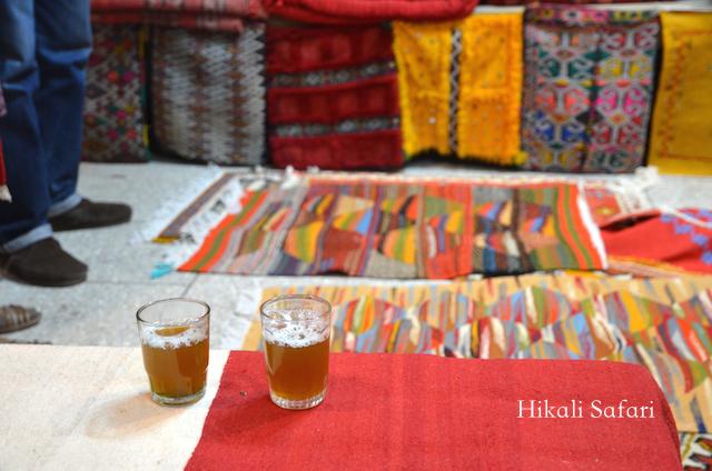 モロッコ、絨毯のショッピング
