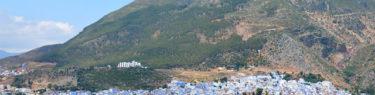モロッコ、シャウエンのパノラマ