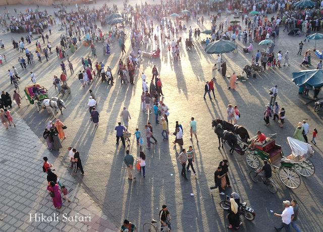 モロッコ、マラケシュのフナ広場